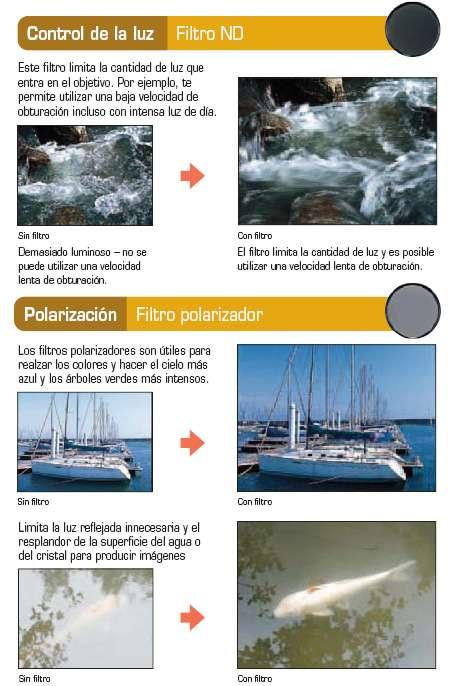Control de la luz Filtro ND - Polarización Filtro polarizador