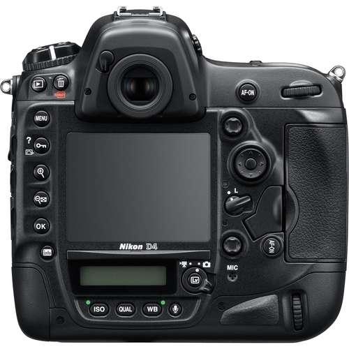 Nikon D4 vista trasera