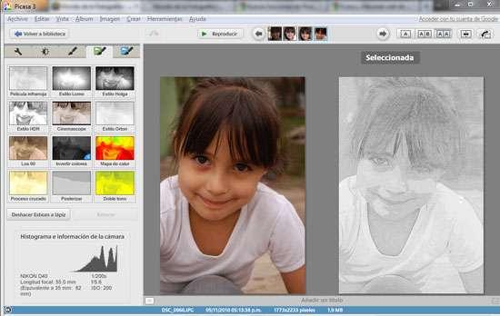 Efectos nuevos en Picasa 3.9